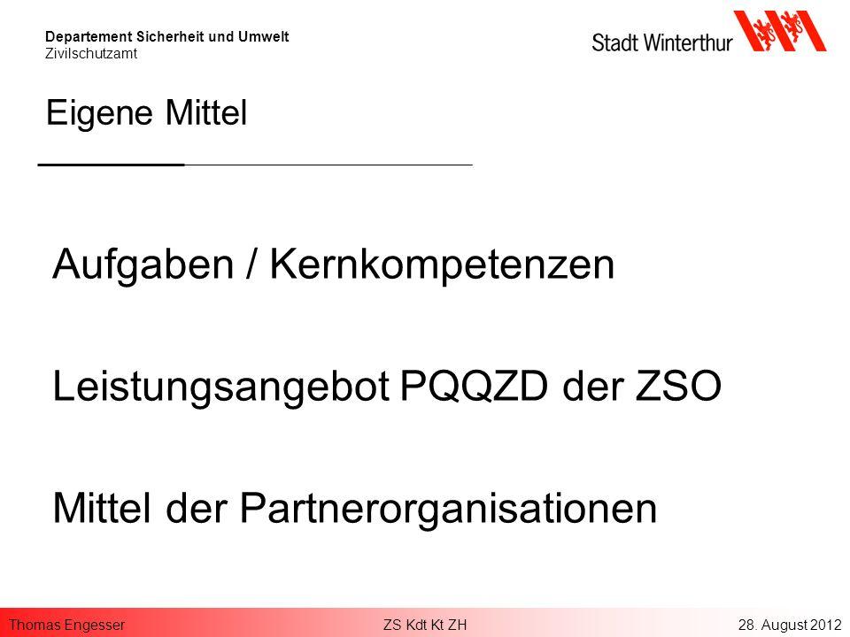 Aufgaben / Kernkompetenzen Leistungsangebot PQQZD der ZSO