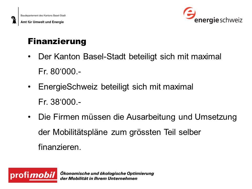 Der Kanton Basel-Stadt beteiligt sich mit maximal Fr. 80'000.-