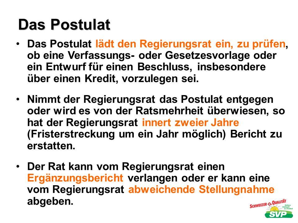Das Postulat