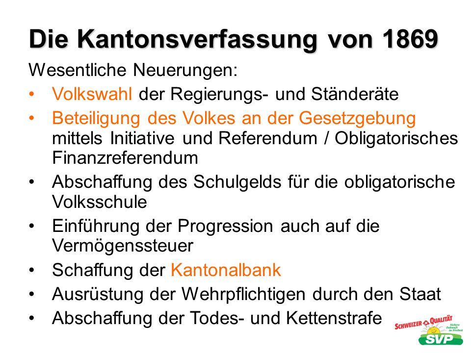 Die Kantonsverfassung von 1869