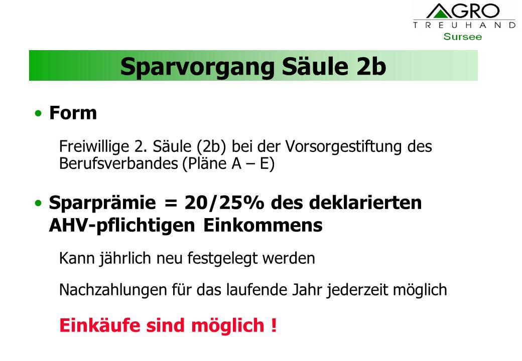 Sparvorgang Säule 2b Form