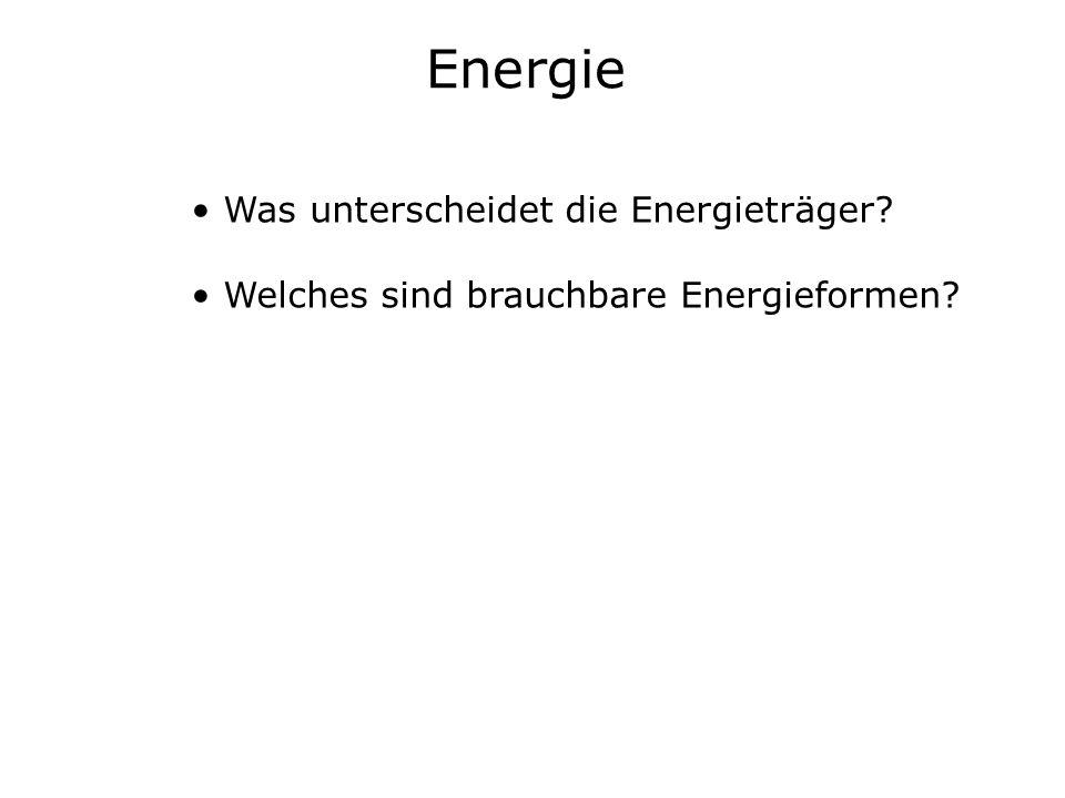 Energie Was unterscheidet die Energieträger