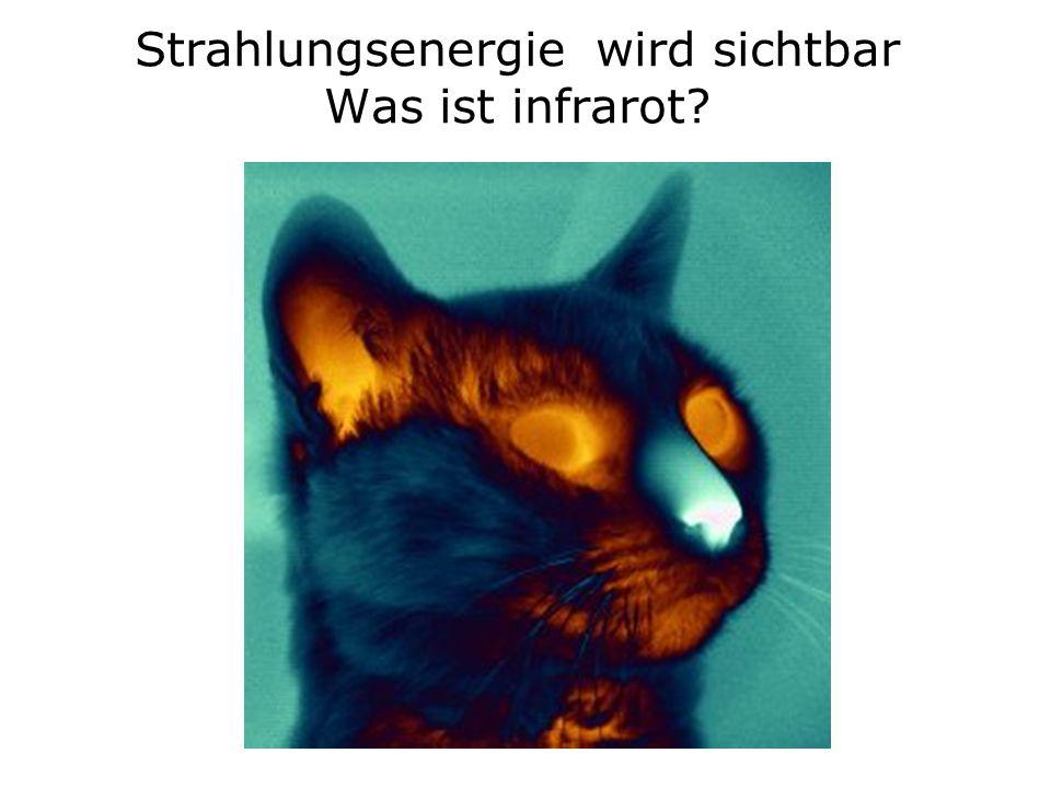 Strahlungsenergie wird sichtbar Was ist infrarot