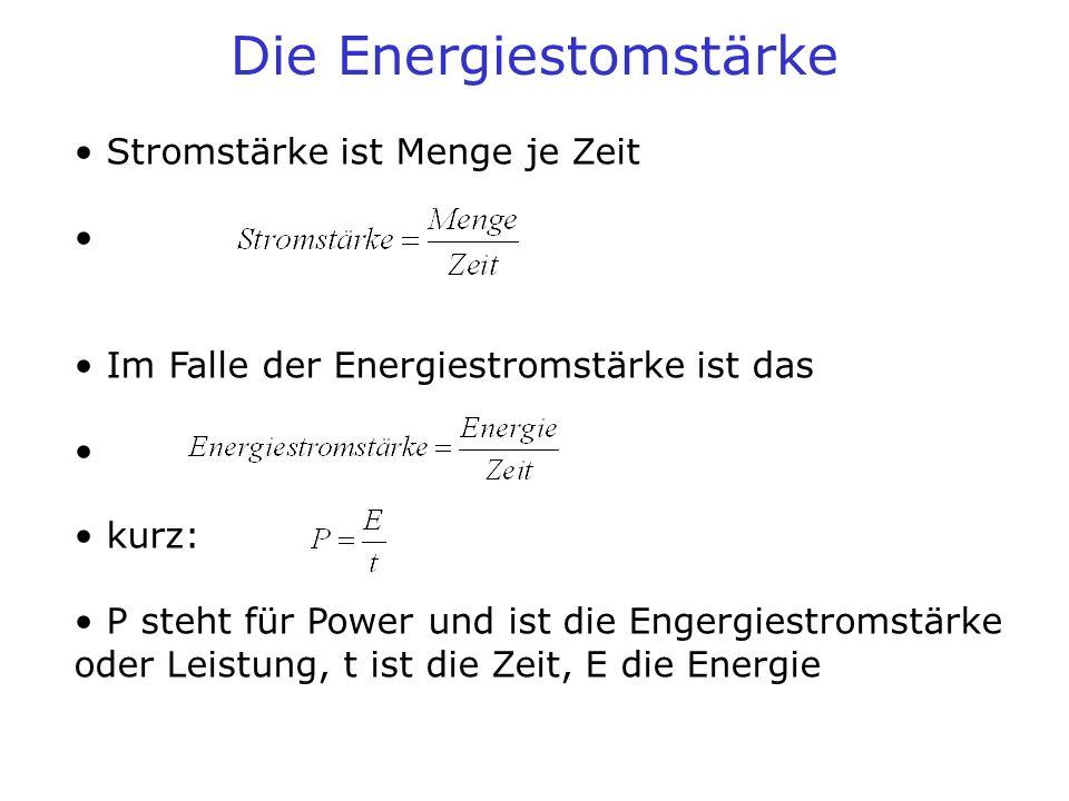Die Energiestomstärke