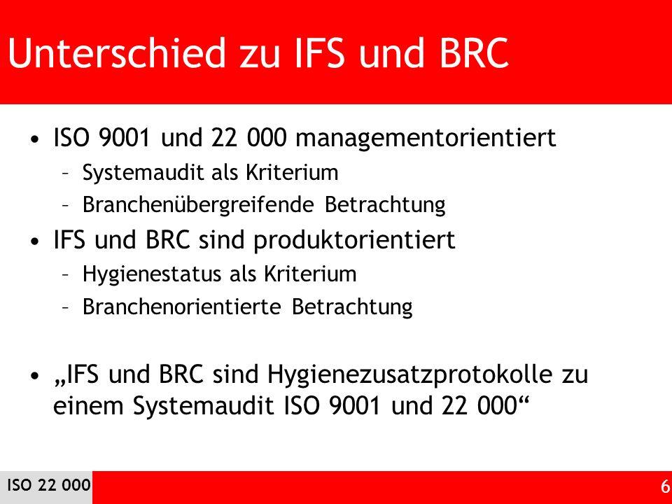 Unterschied zu IFS und BRC