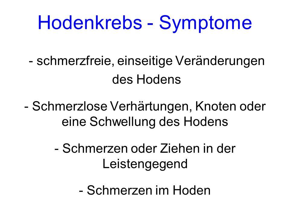 Hodenkrebs - Symptome - schmerzfreie, einseitige Veränderungen