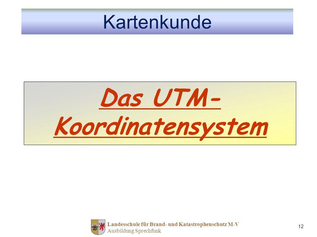 Das UTM-Koordinatensystem