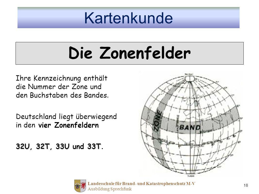 Die Zonenfelder Kartenkunde