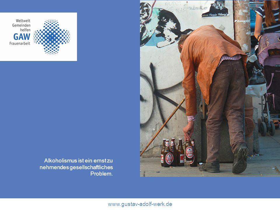 Alkoholismus ist ein ernst zu nehmendes gesellschaftliches Problem.