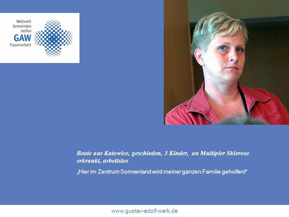 Beate aus Katowice, geschieden, 3 Kinder, an Multipler Sklerose erkrankt, arbeitslos