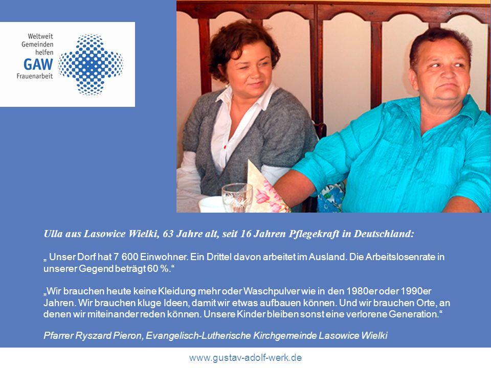 Ulla aus Lasowice Wielki, 63 Jahre alt, seit 16 Jahren Pflegekraft in Deutschland: