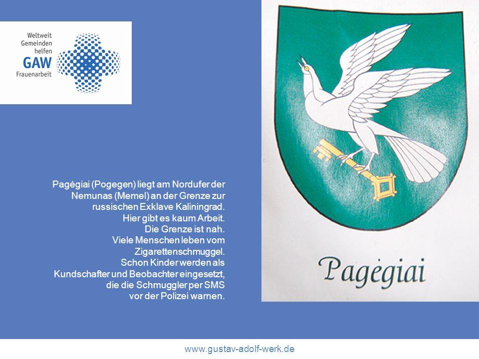 Pagėgiai (Pogegen) liegt am Nordufer der Nemunas (Memel) an der Grenze zur russischen Exklave Kaliningrad.
