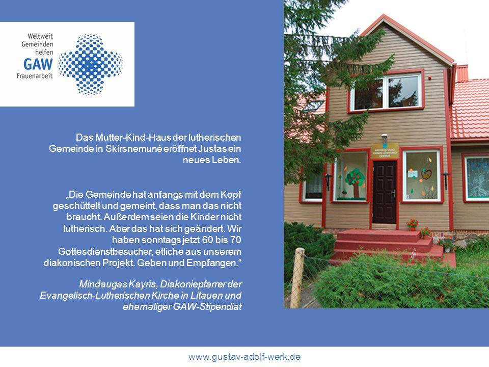 Das Mutter-Kind-Haus der lutherischen Gemeinde in Skirsnemunė eröffnet Justas ein neues Leben.