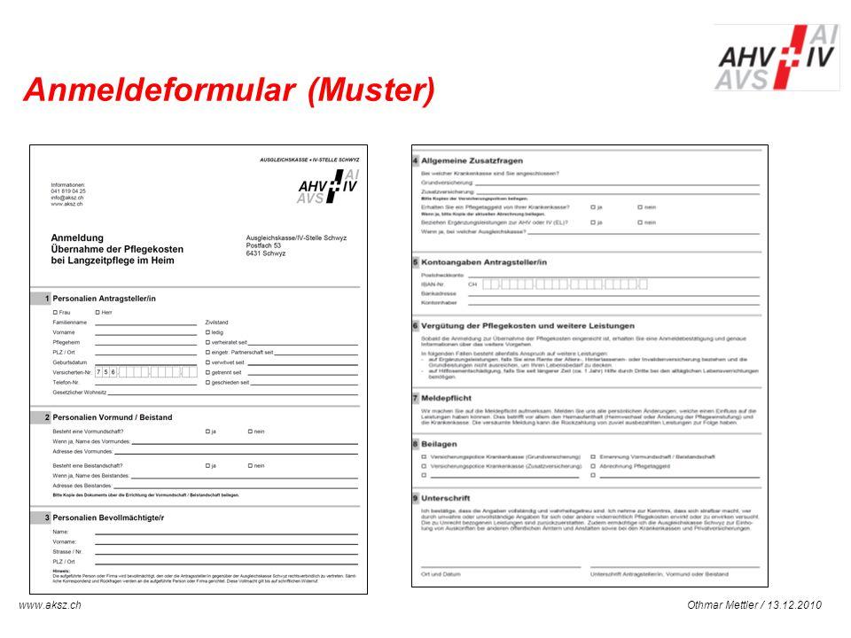 Anmeldeformular (Muster)