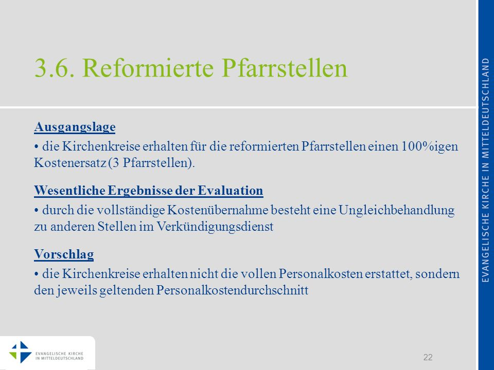 3.6. Reformierte Pfarrstellen