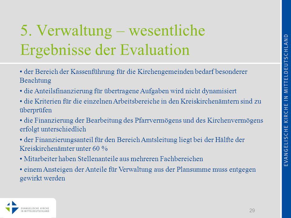 5. Verwaltung – wesentliche Ergebnisse der Evaluation