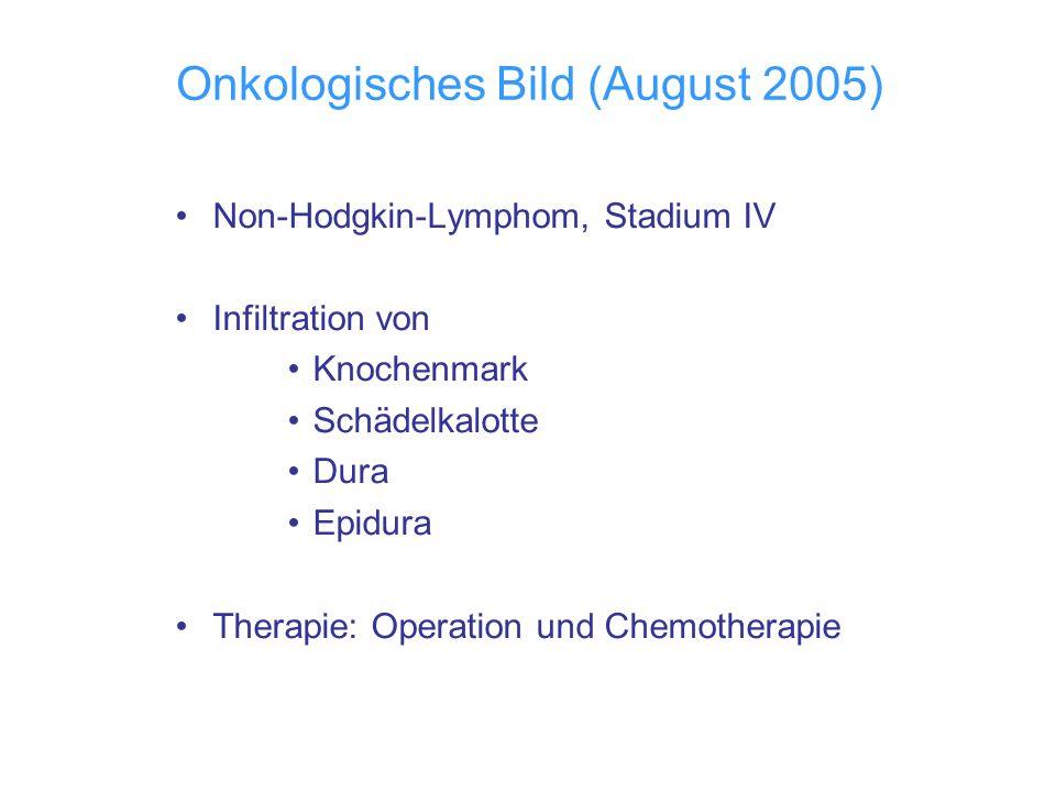 Onkologisches Bild (August 2005)