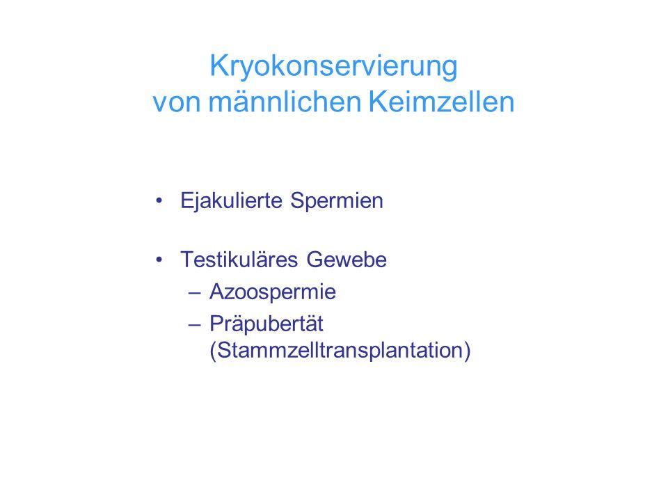 Kryokonservierung von männlichen Keimzellen