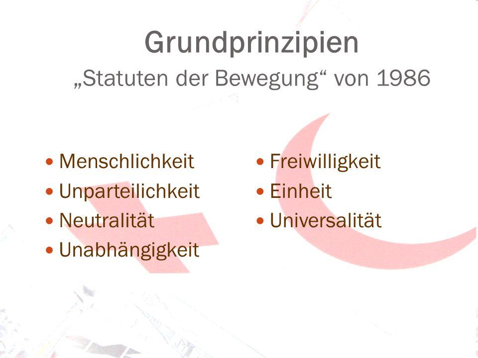 """Grundprinzipien """"Statuten der Bewegung von 1986"""