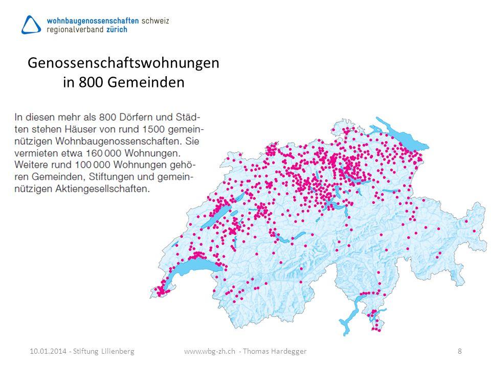 Genossenschaftswohnungen in 800 Gemeinden