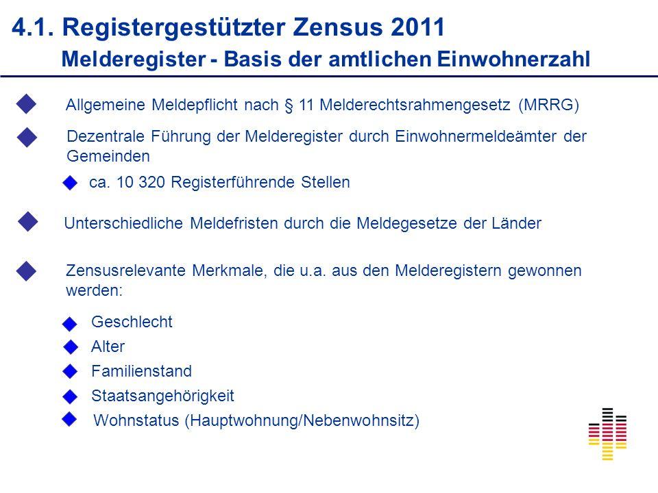 4.1. Registergestützter Zensus 2011