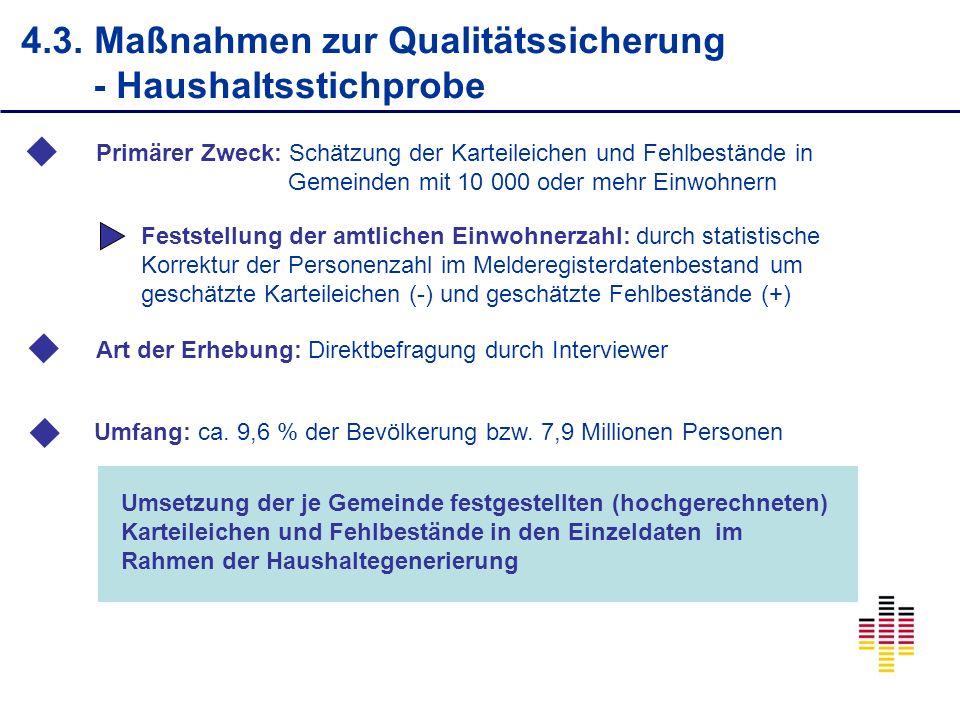 4.3. Maßnahmen zur Qualitätssicherung - Haushaltsstichprobe