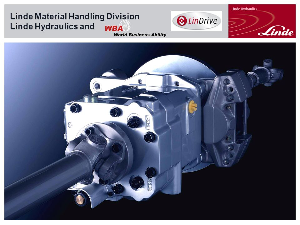 Linde Material Handling Division Linde Hydraulics and