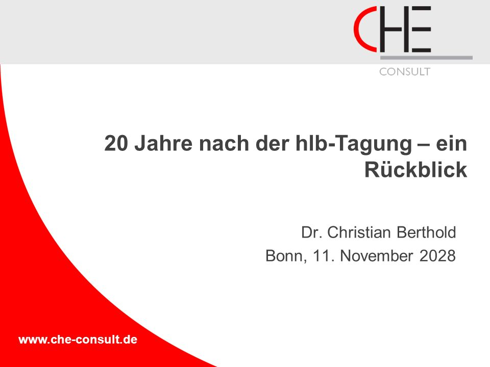Dr. Christian Berthold Bonn, 11. November 2028