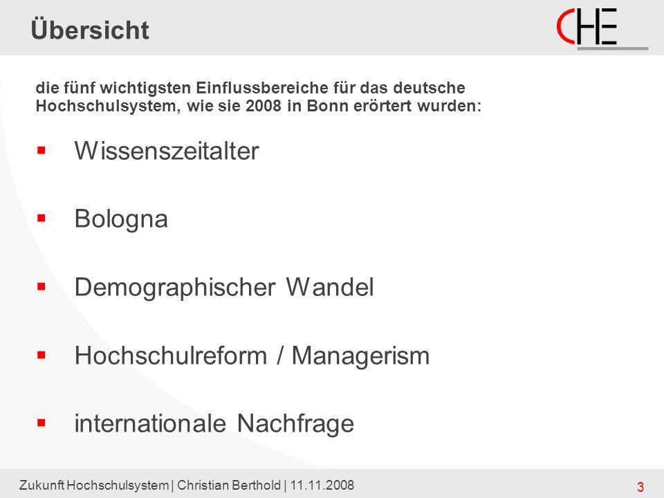 Demographischer Wandel Hochschulreform / Managerism