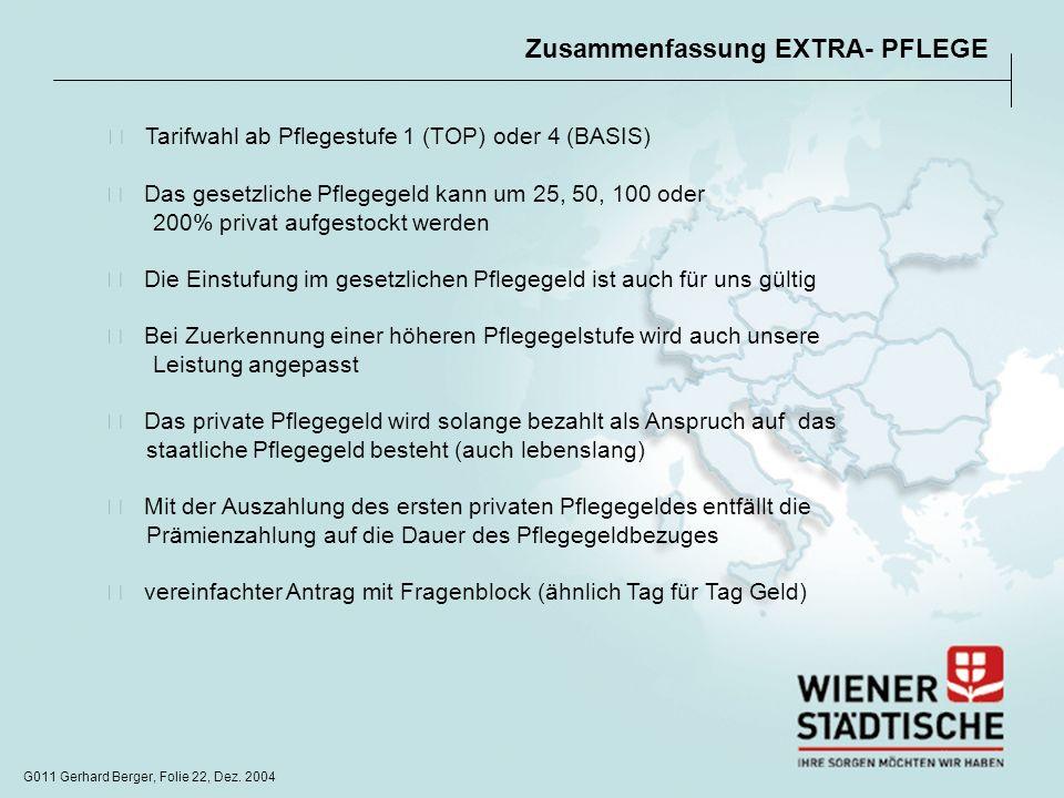 Zusammenfassung EXTRA- PFLEGE