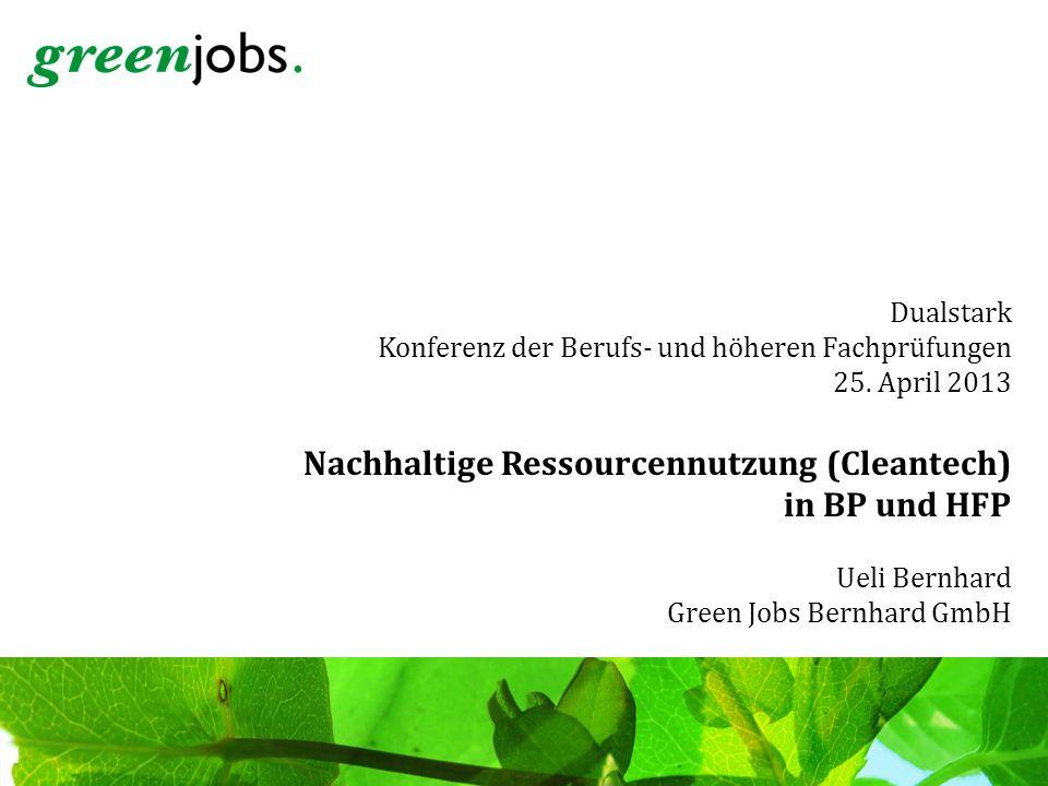 Nachhaltige Ressourcennutzung (Cleantech) in BP und HFP