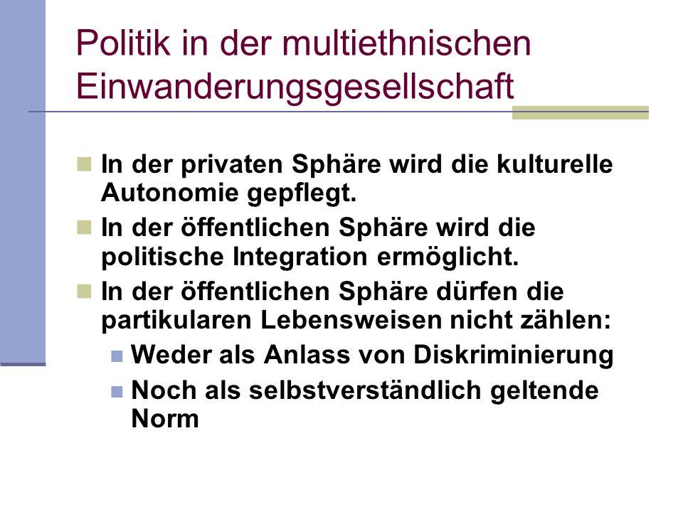 Politik in der multiethnischen Einwanderungsgesellschaft