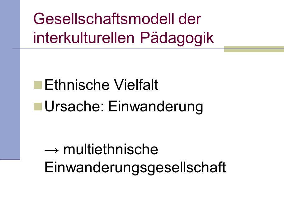 Gesellschaftsmodell der interkulturellen Pädagogik