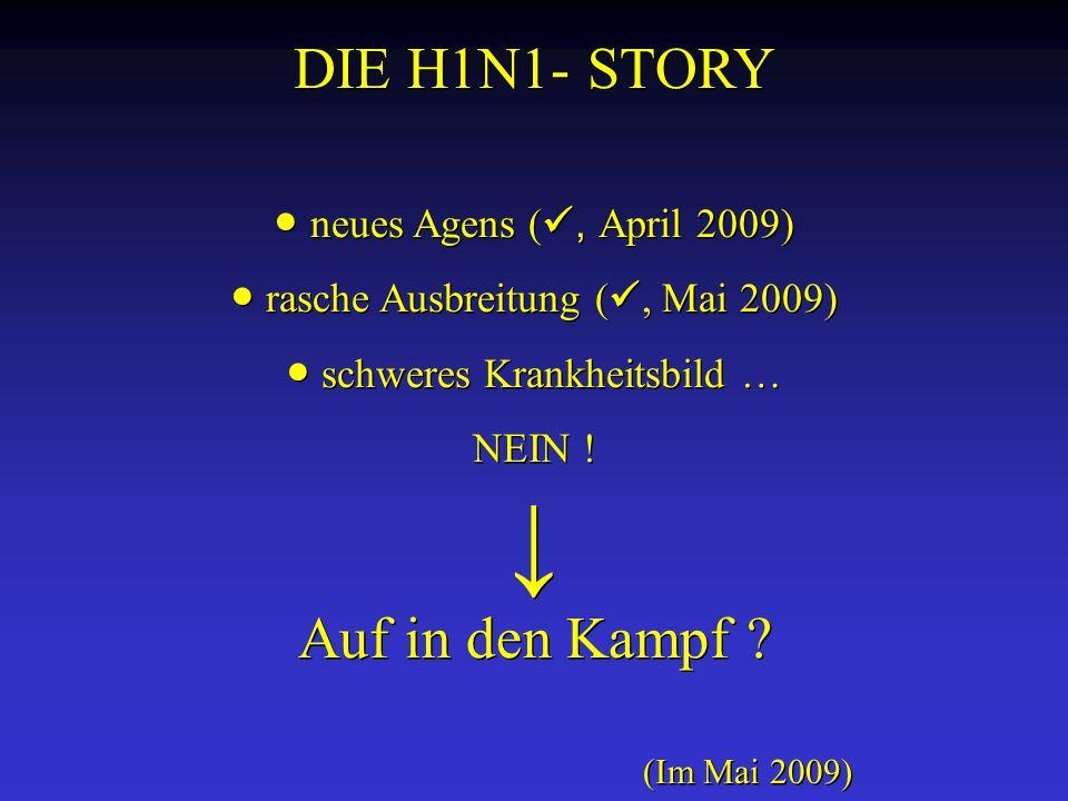 DIE H1N1- STORY Auf in den Kampf ● neues Agens (, April 2009)