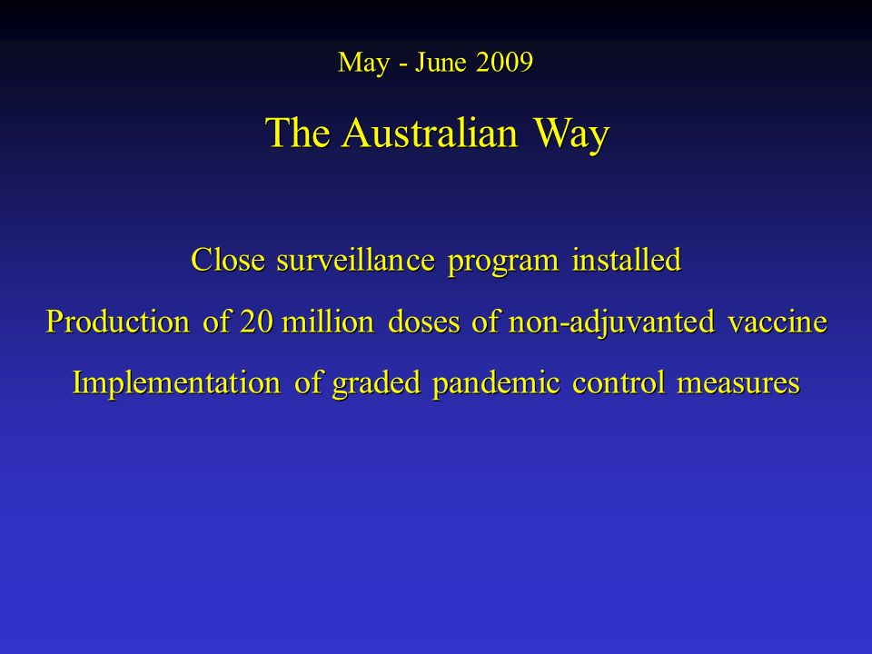 The Australian Way Close surveillance program installed