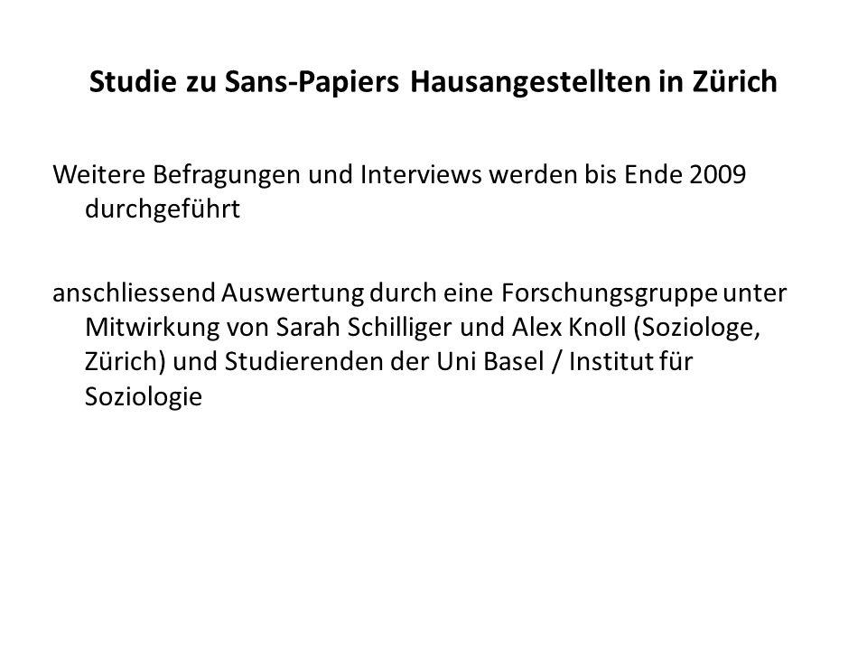 Studie zu Sans-Papiers Hausangestellten in Zürich
