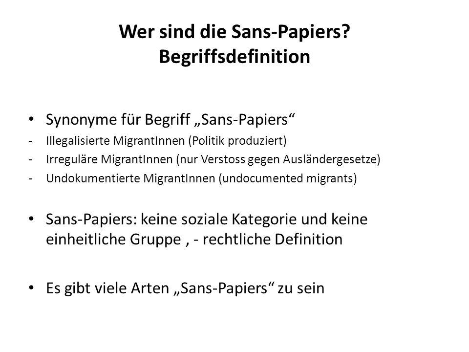 Wer sind die Sans-Papiers Begriffsdefinition