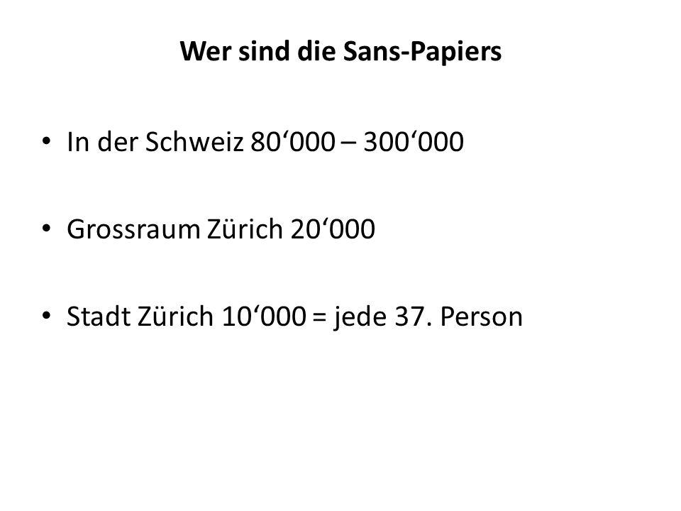 Wer sind die Sans-Papiers