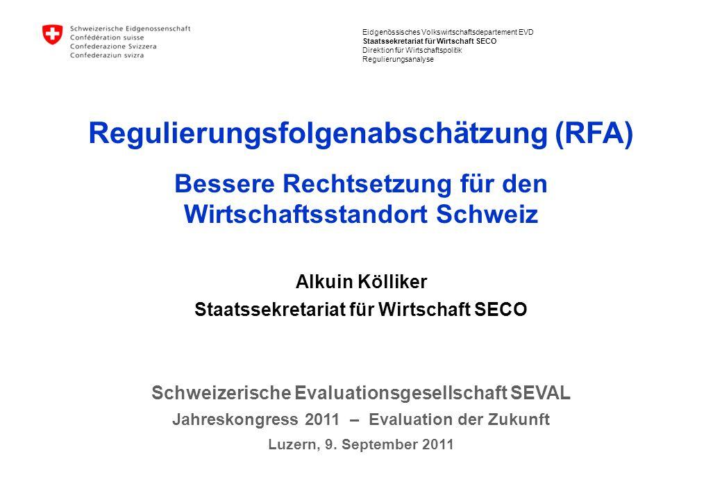 Regulierungsfolgenabschätzung (RFA)