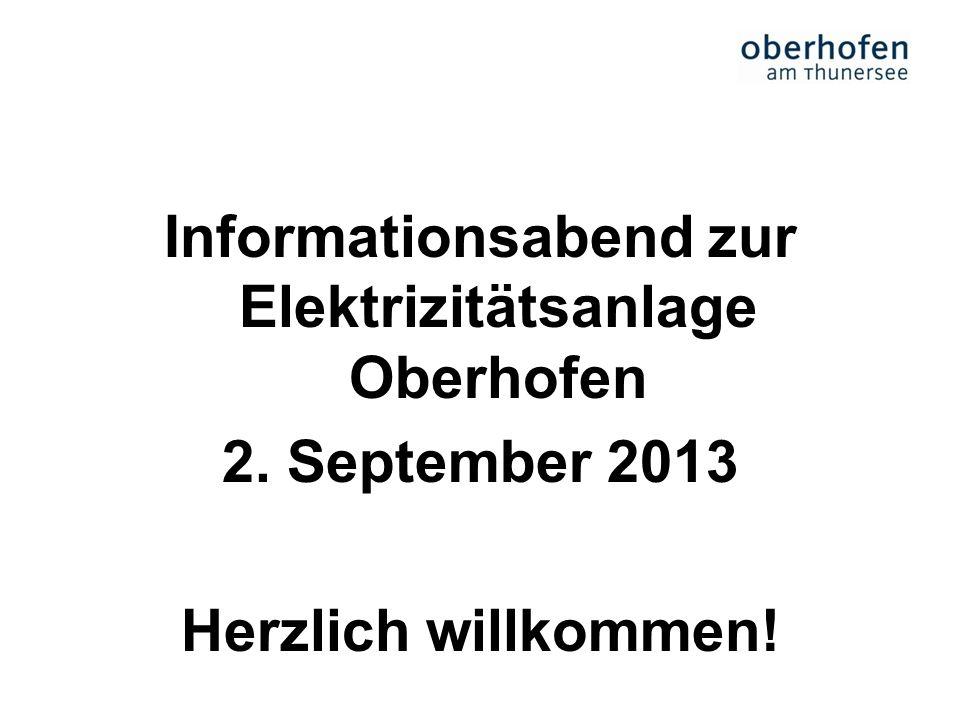 Informationsabend zur Elektrizitätsanlage Oberhofen 2