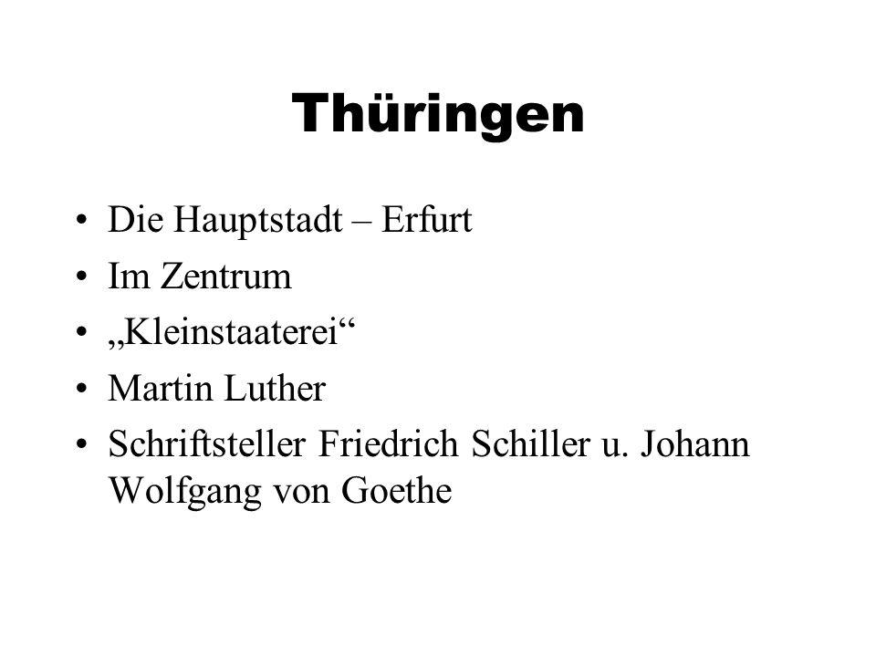 """Thüringen Die Hauptstadt – Erfurt Im Zentrum """"Kleinstaaterei"""