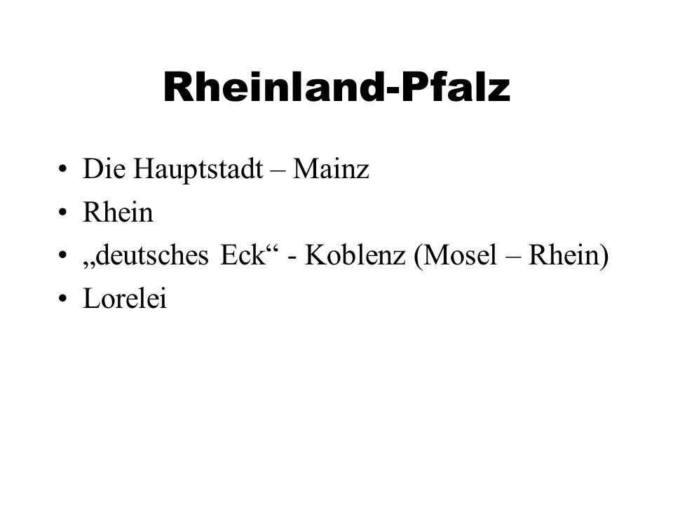 Rheinland-Pfalz Die Hauptstadt – Mainz Rhein