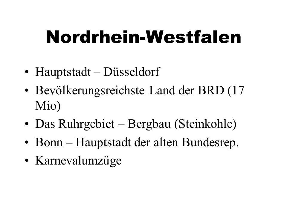 Nordrhein-Westfalen Hauptstadt – Düsseldorf