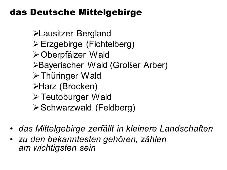 das Deutsche Mittelgebirge