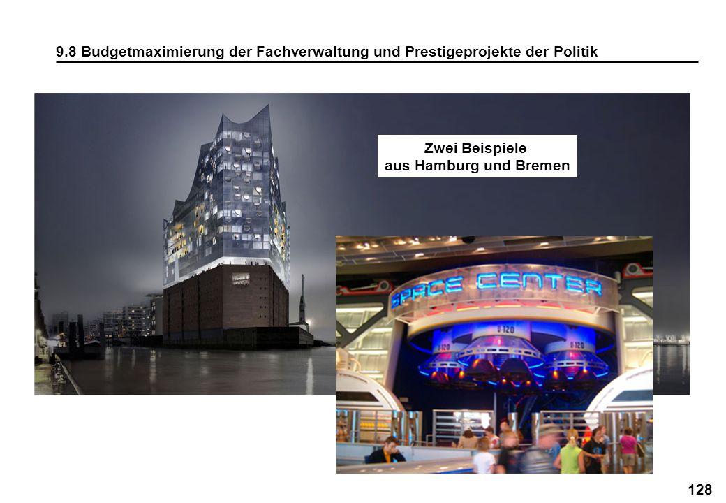 9.8 Budgetmaximierung der Fachverwaltung und Prestigeprojekte der Politik