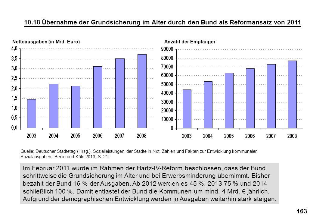 Nettoausgaben (in Mrd. Euro)