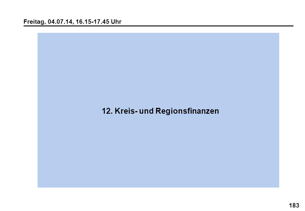 12. Kreis- und Regionsfinanzen