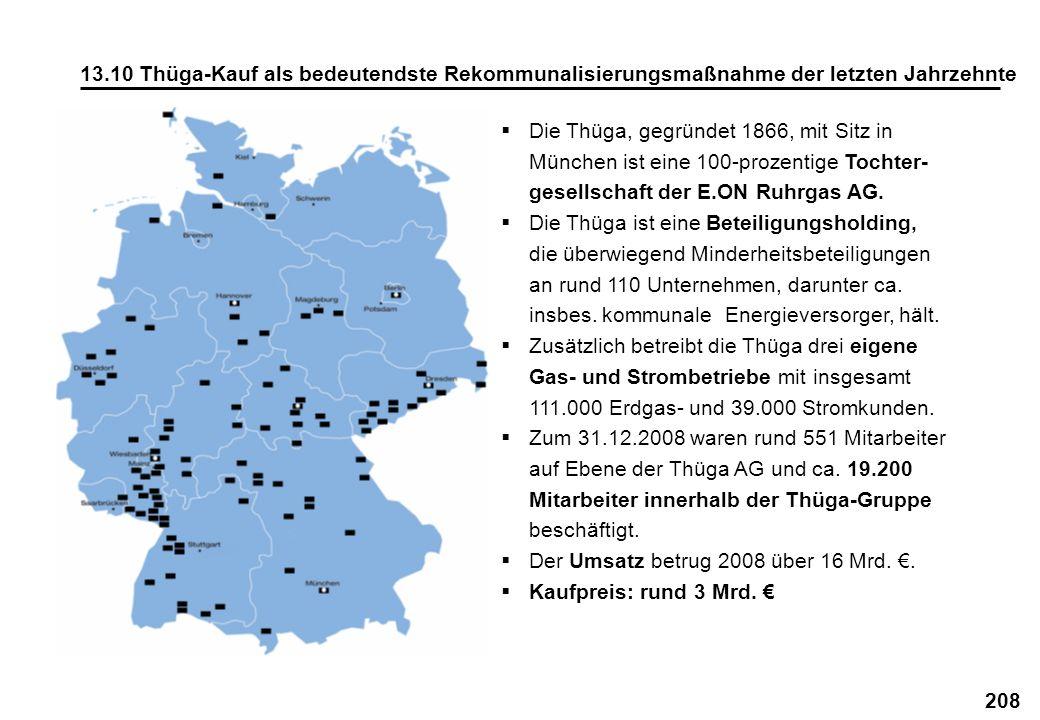 13.10 Thüga-Kauf als bedeutendste Rekommunalisierungsmaßnahme der letzten Jahrzehnte