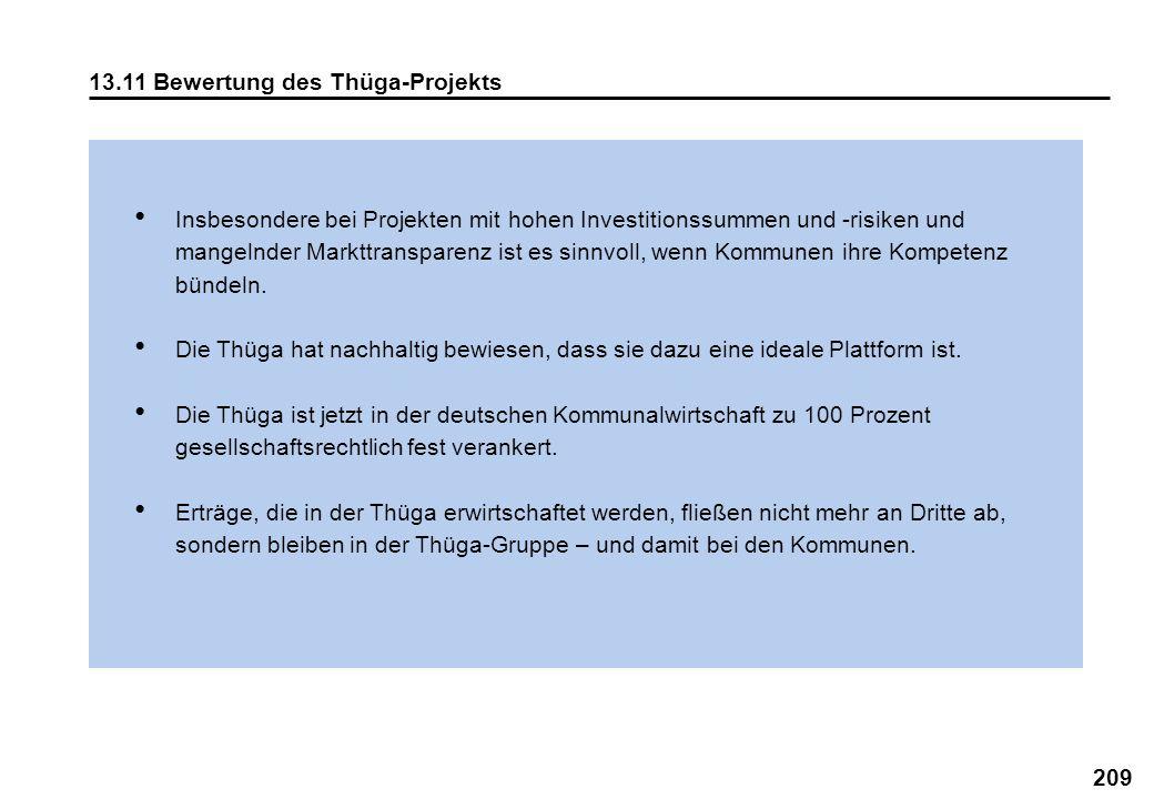 13.11 Bewertung des Thüga-Projekts
