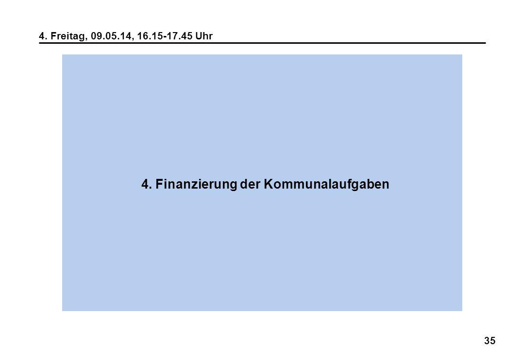 4. Finanzierung der Kommunalaufgaben